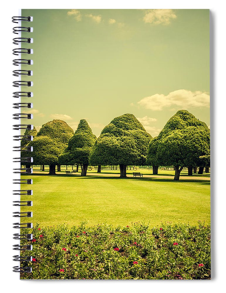 Hampton Court Palace Gardens Summer Colours - Spiral Notebook