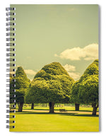 Load image into Gallery viewer, Hampton Court Palace Gardens Triangular Trees - Spiral Notebook
