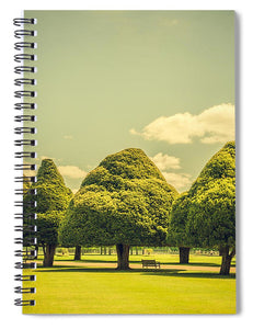 Hampton Court Palace Gardens Triangular Trees - Spiral Notebook