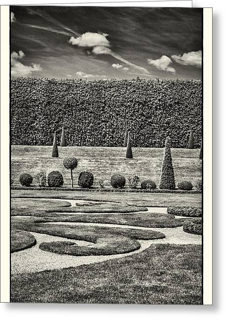 Hampton Court The Privy Garden BW - Greeting Card