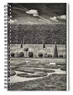 Load image into Gallery viewer, Hampton Court The Privy Garden BW - Spiral Notebook