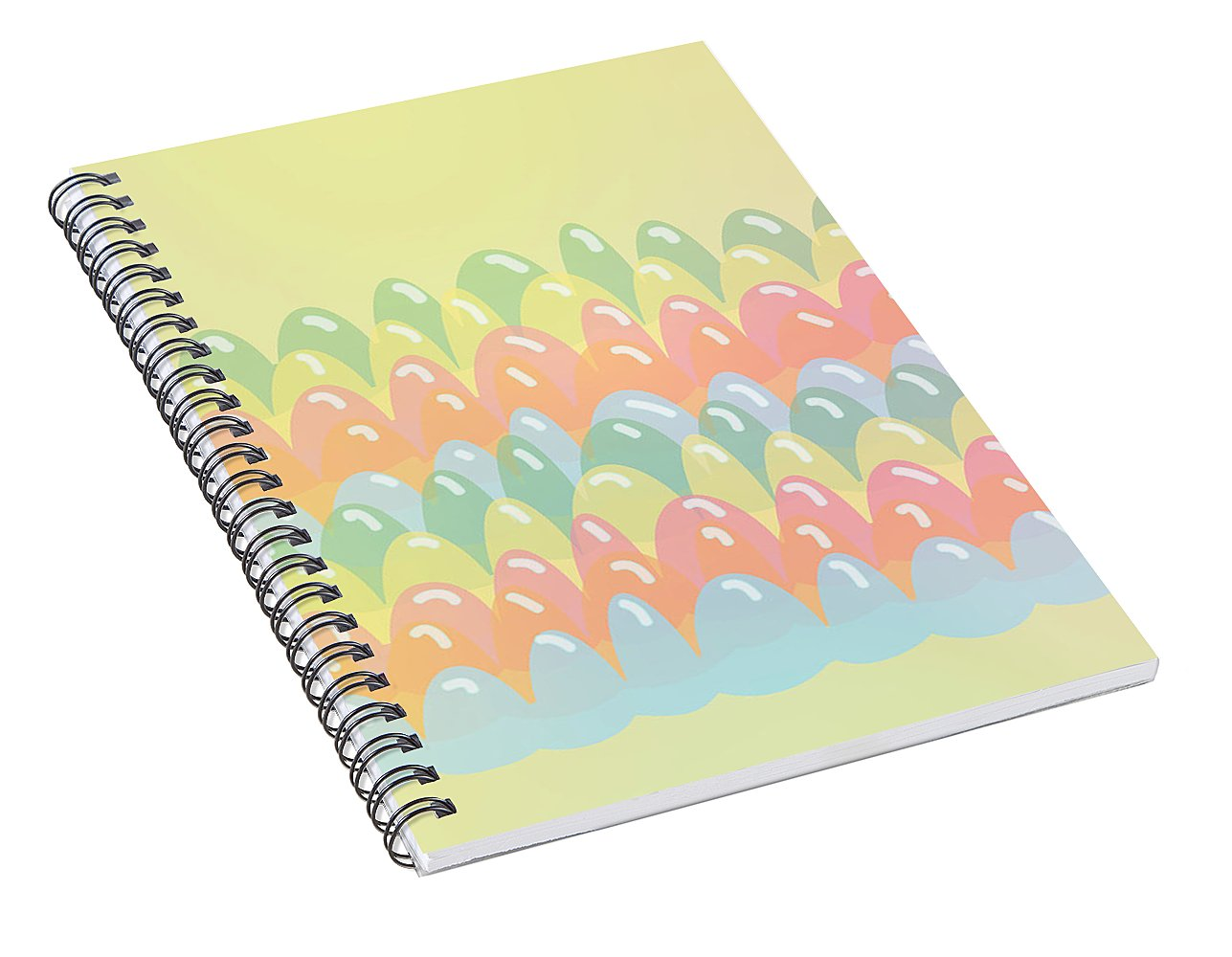 Jelly Stripy Fun - Spiral Notebook