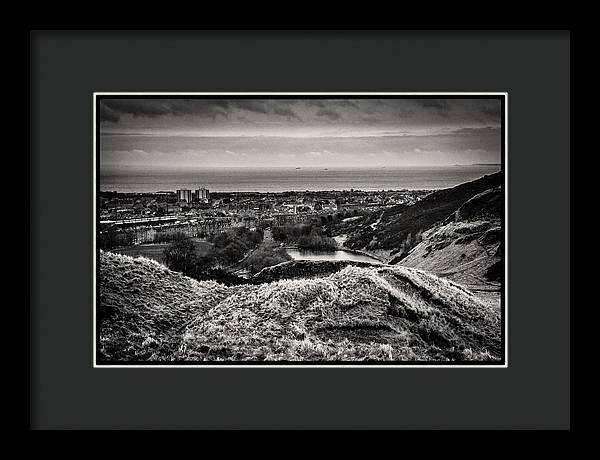 Land of Scotland BW - Framed Print