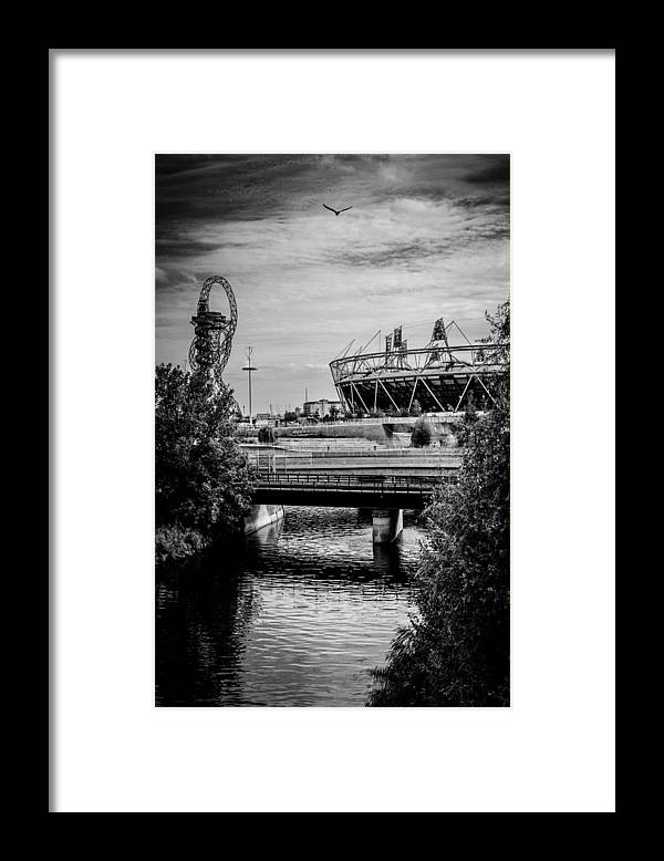 London Olympic Stadium and Sculpture 2013 - Framed Print