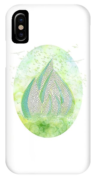 Mini Forest with Birds in flight - Illustration - Phone Case