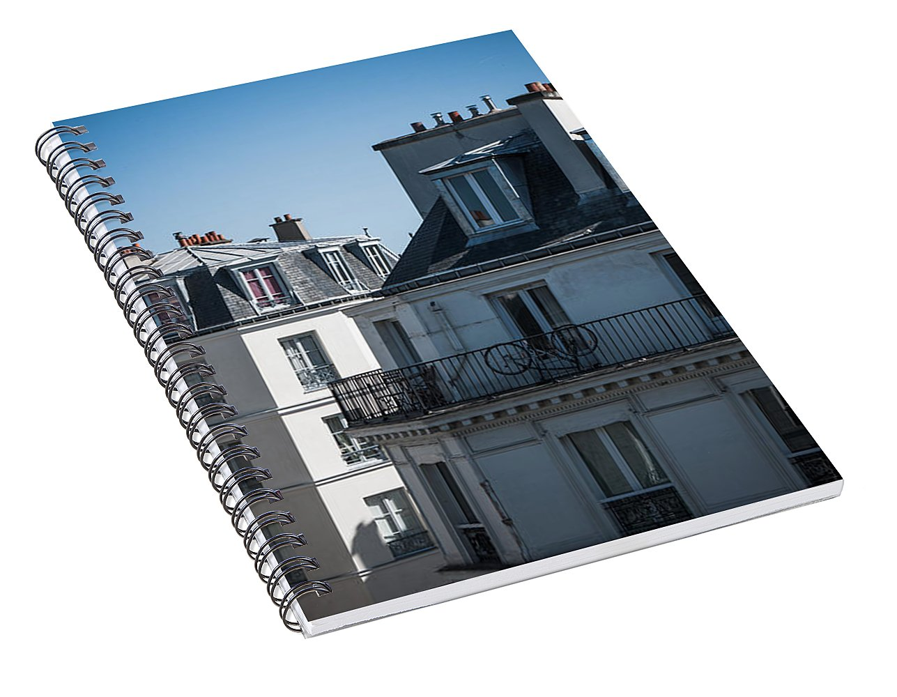 Parisian Rooftops in the Morning - Spiral Notebook