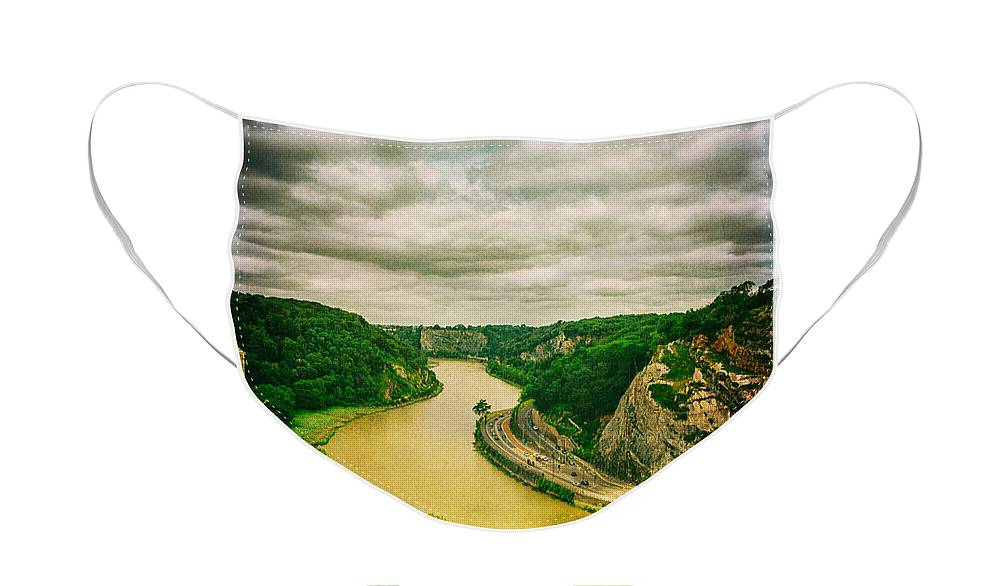 River Avon Curvature as seen from Clifton Suspension Bridge - Face Mask