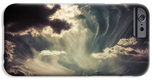 Sky Wisps over a Double Decker - Phone Case