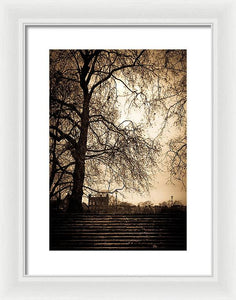 Step up to the little house - Framed Print