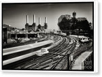 Load image into Gallery viewer, The Train and Battersea Power Station - Canvas Print
