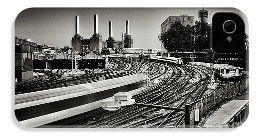The Train and Battersea Power Station - Phone Case