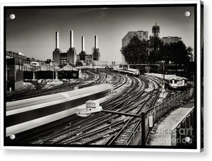 The Train and Battersea Power Station - Acrylic Print