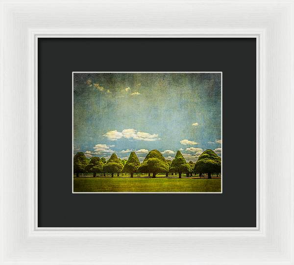 Triangular Trees 003 - Framed Print
