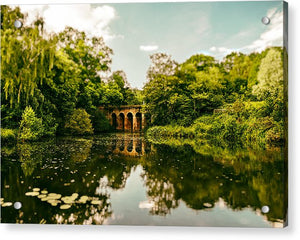 Viaduct Bridge Over Viaduct Pond green london space - Acrylic Print
