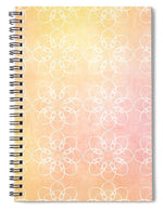 Load image into Gallery viewer, White Flowers with Warm Orange background - Spiral Notebook