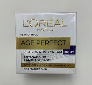 L'oreal Age Perfect Re-Hydrating Cream Night For Mature Skin - 1.7oz
