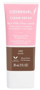 Covergril Clean Fresh Skin Milk  Nourishing Foundation 1 oz. Dark 640.