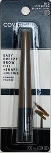 Covergirl Easy Breezy Brow Fill + Shape + Define Powder. 810 Soft Brown - 700 mg (.024 OZ)