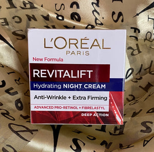 Wholesale L'oreal Revitalift - Hydrating Night Cream - Anti-Wrinkle + Extra Firming, Deep Action - 1.7oz