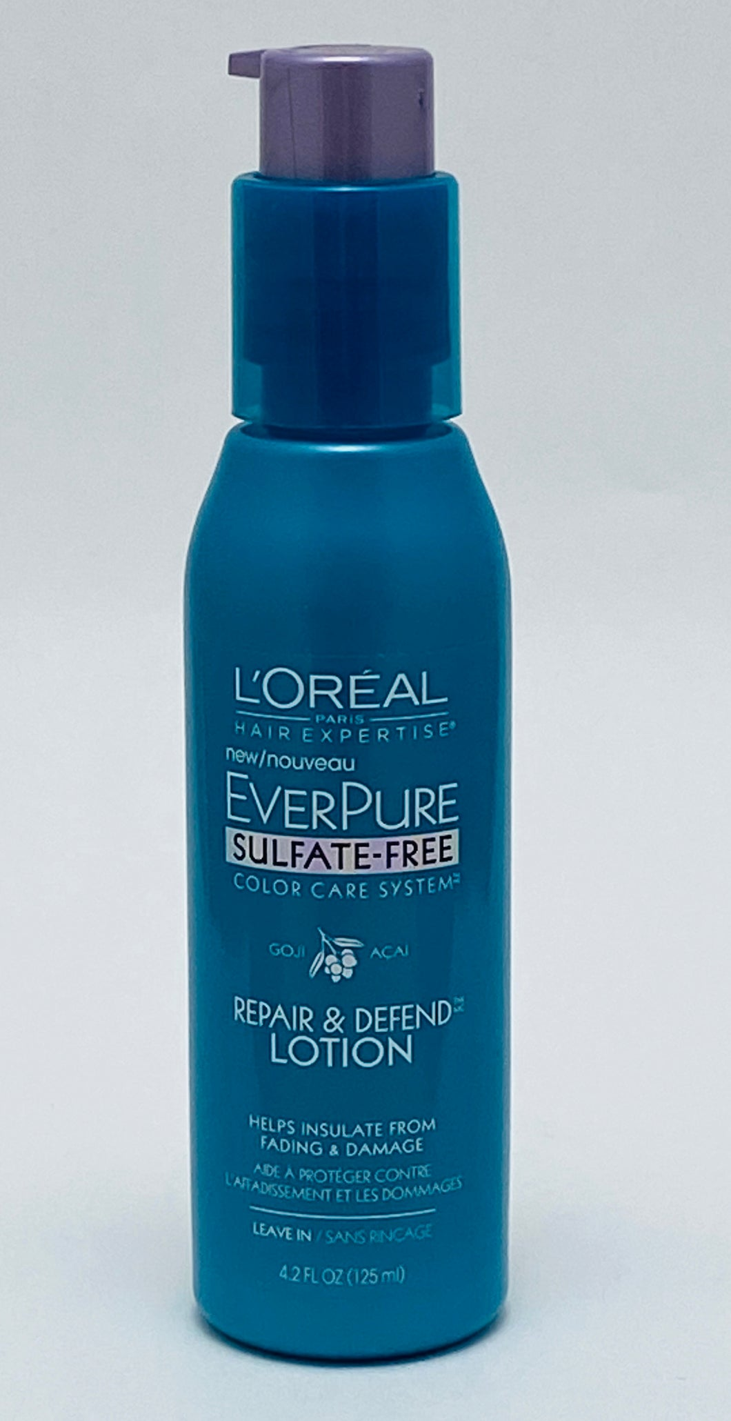 L'oreal Ever Pure Sulfate-Free Color Care System Repair & Defend Lotion - 4.2 FL OZ. (125ml)
