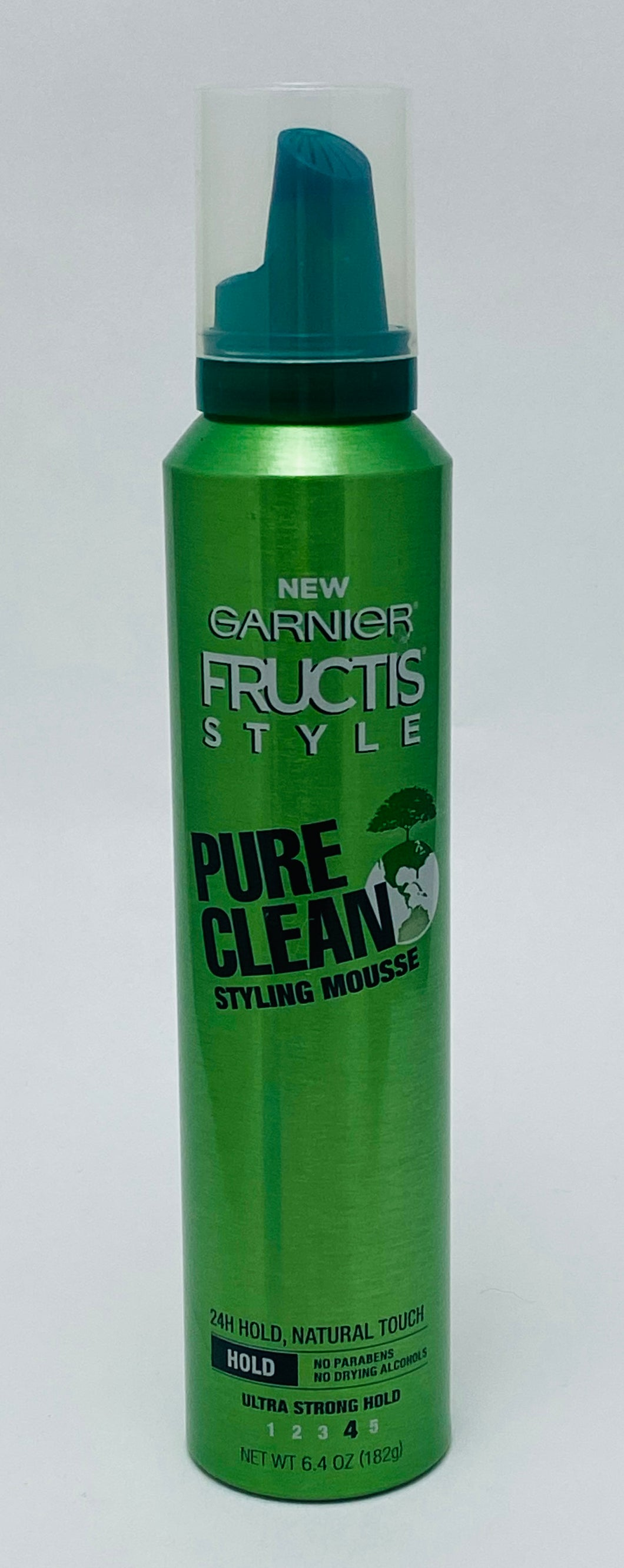 Garnier Fructis Style  - Pure Clean Styling Mousse - 24H Ultra strong Hold, - 6.4 OZ (182g)