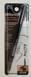 Wholesale Maybelline Brow Precise Micro Eyebrow Pencil - 260 Deep Brown - 60mg/0.002 OZ - 48 Pieces Lot