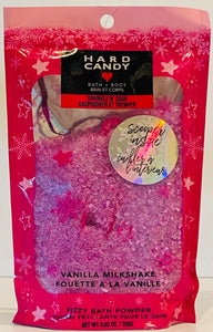 Wholesale - Hard Candy - Sprinkle & Soak Bath Powder 8.82 OZ. with Scooper - Vainilla Milkshake - 31 Pieces Lot