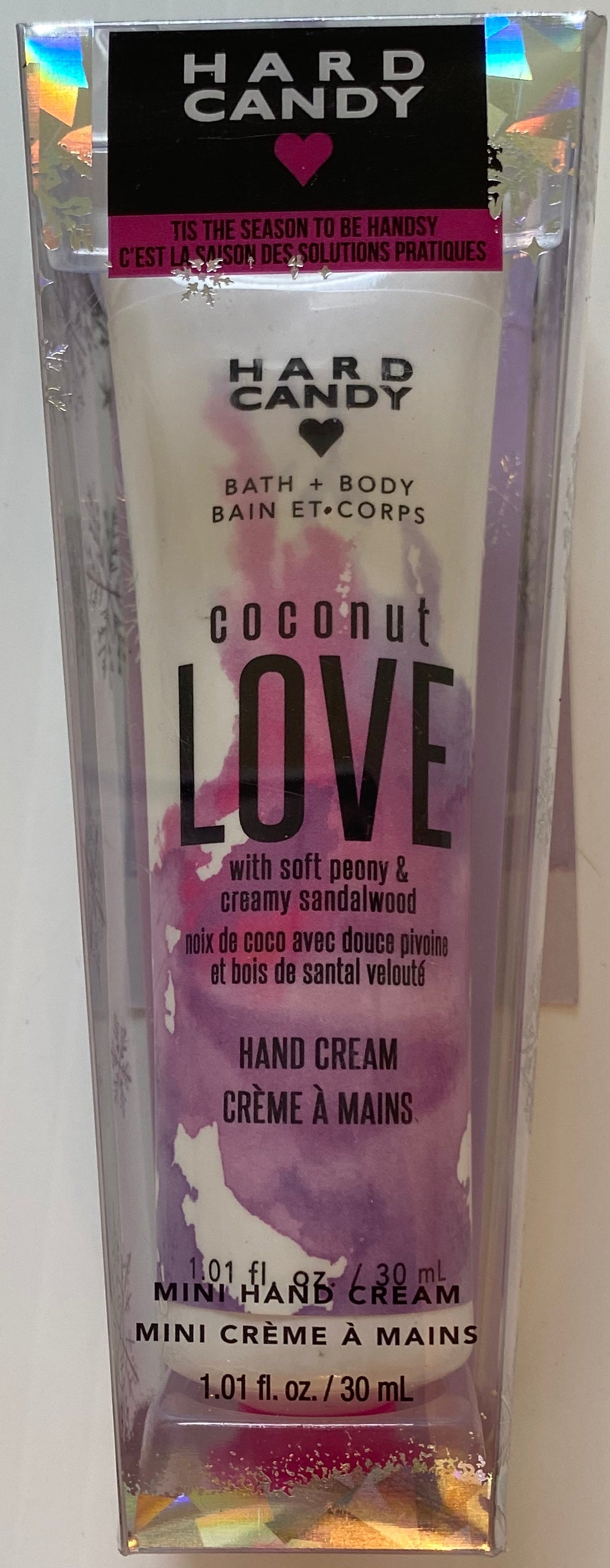 Wholesale - Hard Candy - Tis The Season To Get Handsy - Hand Cream - Coconut Love - 1.01 fl.oz. / 30 mL - 9 Pieces Lot