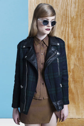 KATYA PLAID BOMBER