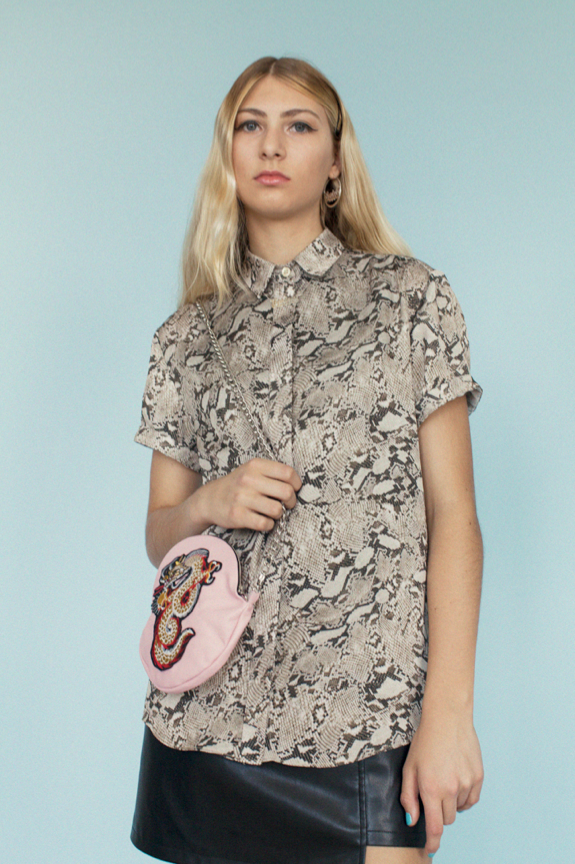 Python Short Sleeve Button-down - Dolores Haze