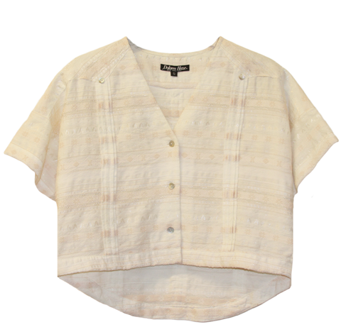 Thea Cropped Button-down