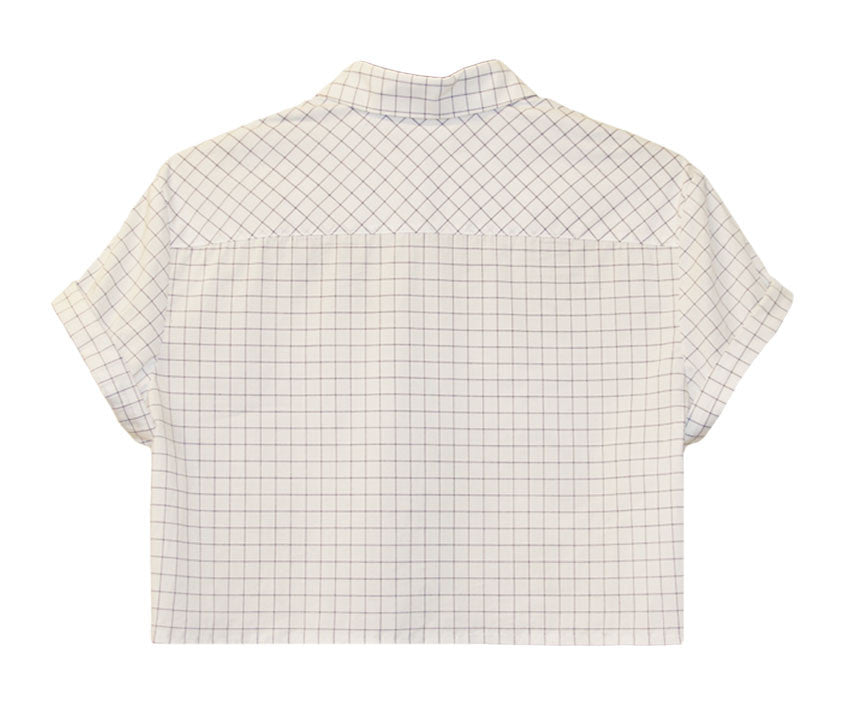 Boyfriend Button-Down Crop Top - Dolores Haze