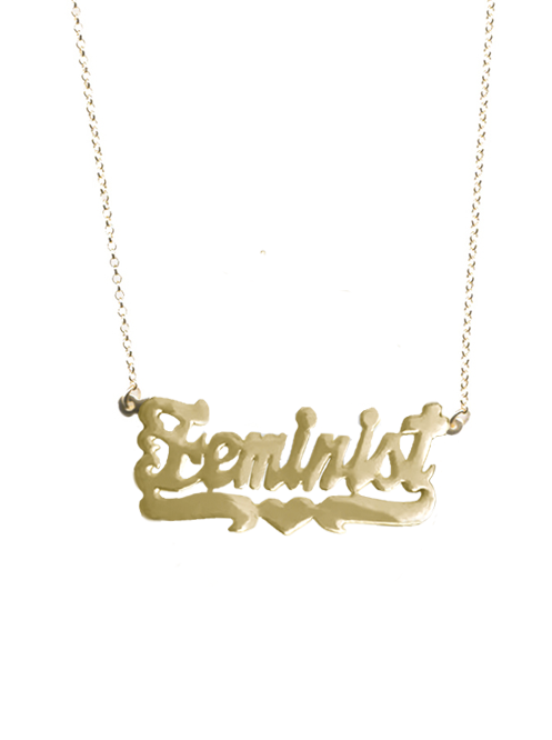 FEMINIST GOLD NECKLACE