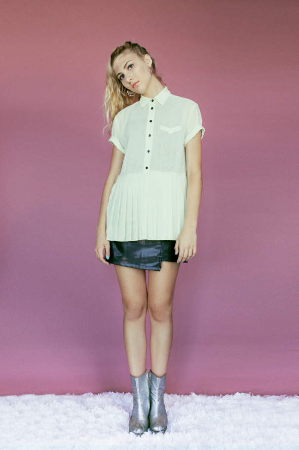 SIMONE PLEATED TUNIC - Dolores Haze