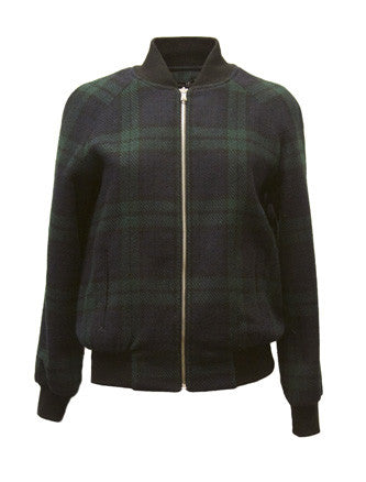 KATYA PLAID BOMBER - Dolores Haze