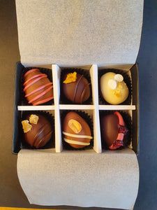 Easter Collection- Luxury selection of 6 chocolate truffles gift box