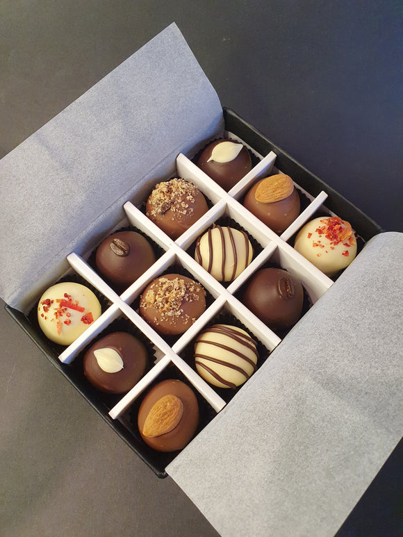 Spring Collection- Luxury selection of 12 chocolate truffles gift box