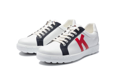 KANKURA GOLF MEN'S DRIVE 02 2021 - WHITE/NAVY/RED | GOLF SPORT SHOES
