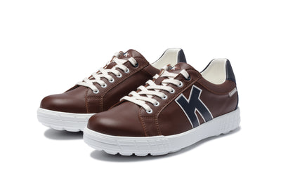 KANKURA GOLF MEN'S DRIVE 02 - CHOCOLATE/NAVY | GOLF SPORT SHOES