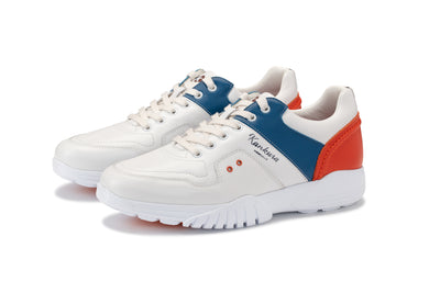 KANKURA GOLF MEN'S CHALLENGE 01 - WHITE/BLUE/ORANGE| GOLF SPORT SHOES