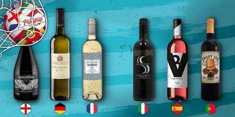 The favourites pack - 6 bottles from the favourite teams to win the Euro 2020 football tournament.