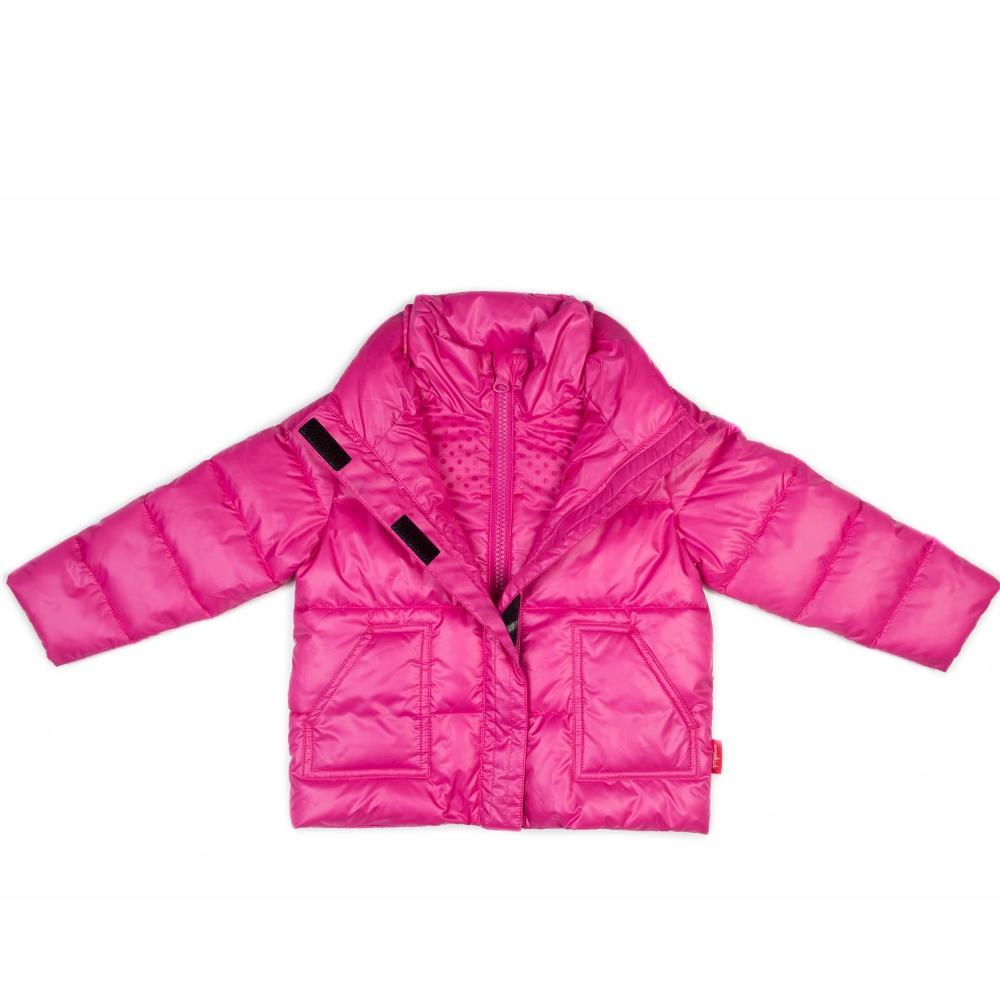 Car Seat Safety Road Coat®Vegan Jacket - Fuchsia