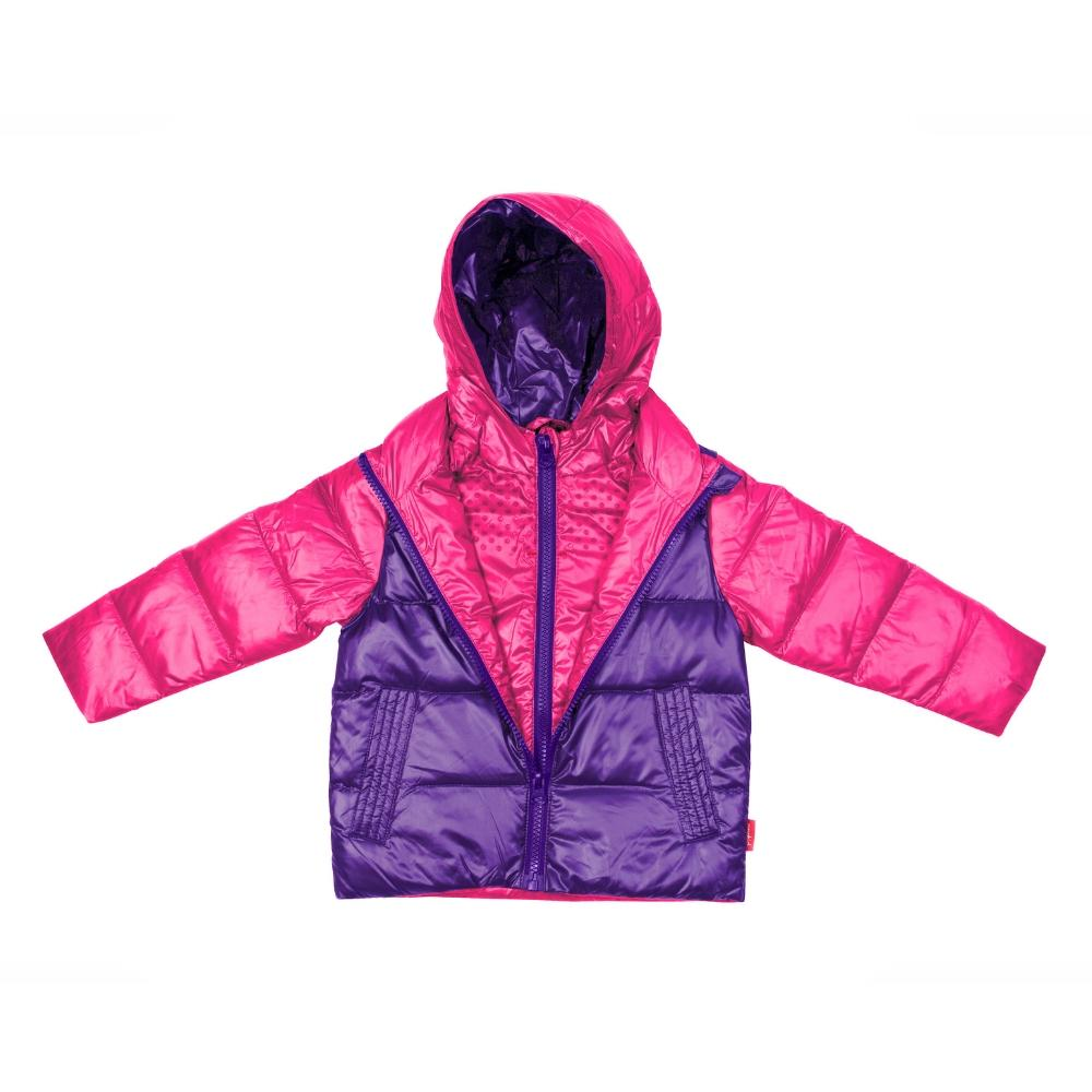 Car Seat Safety Road Coat®Down Jacket - Fuchsia / Purple