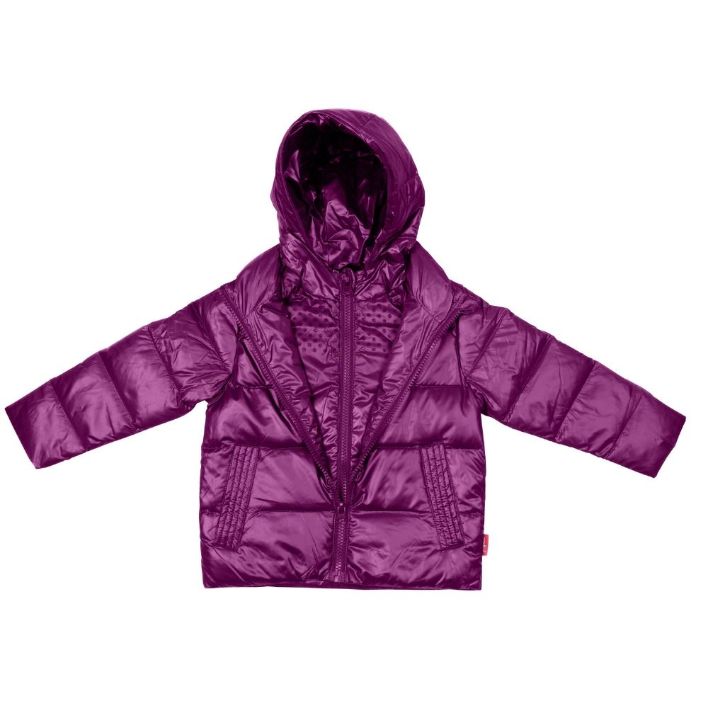 Car Seat Safety Road Coat®Down Jacket - Plum