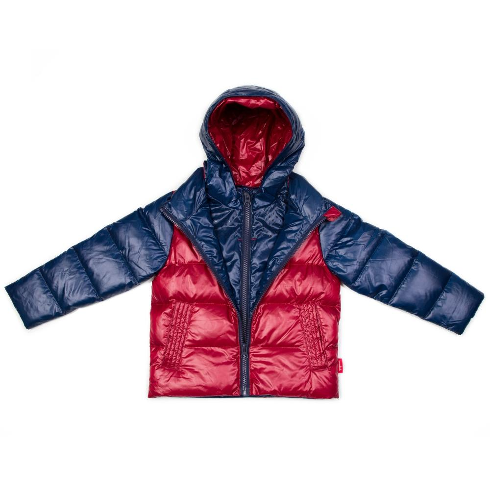 Car Seat Safety Road Coat®Down Jacket - Navy/Red