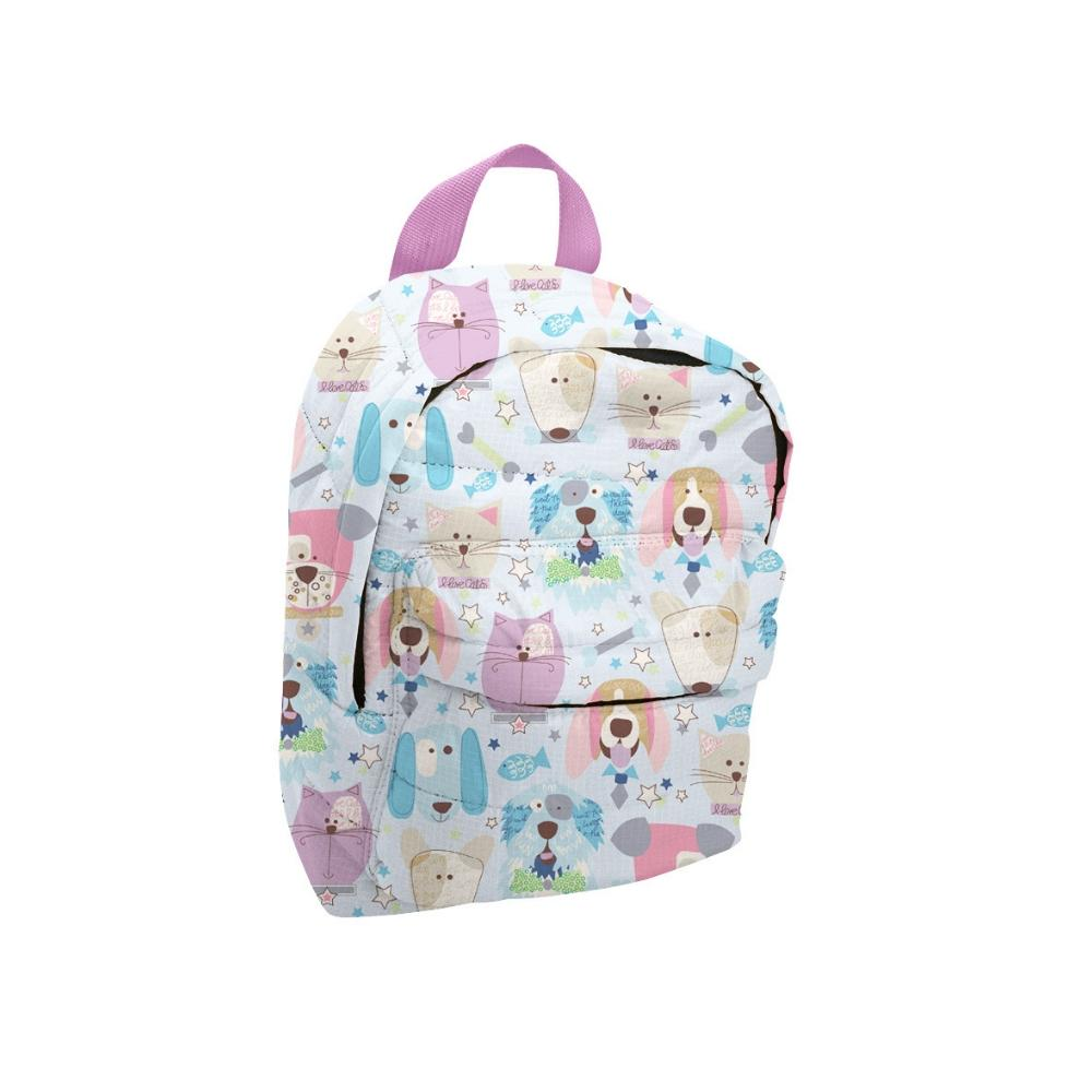 Mini Backpack - Lilac / Puppy Print