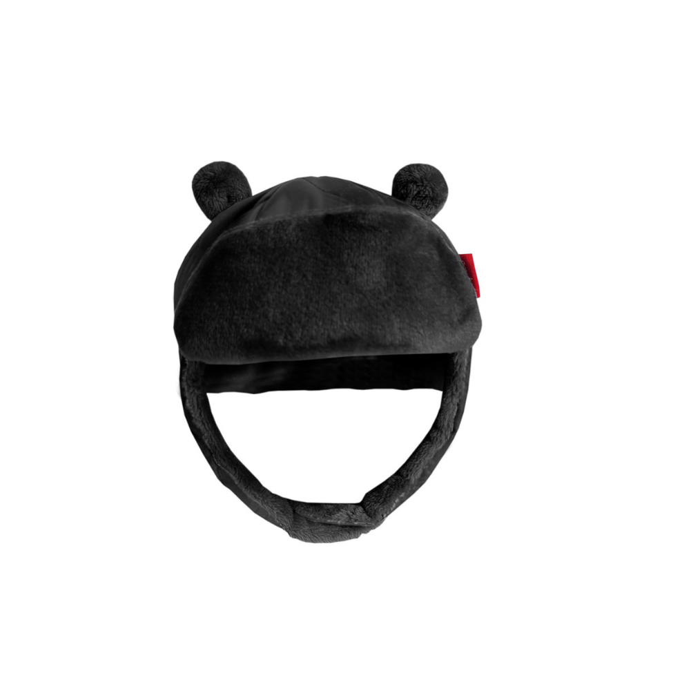 Quilted Alpine Bomber Hat - Black