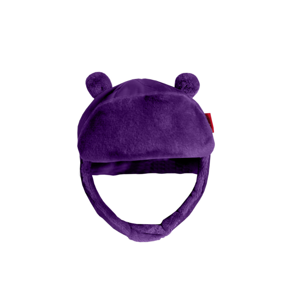 Quilted Alpine Bomber Hat - Purple