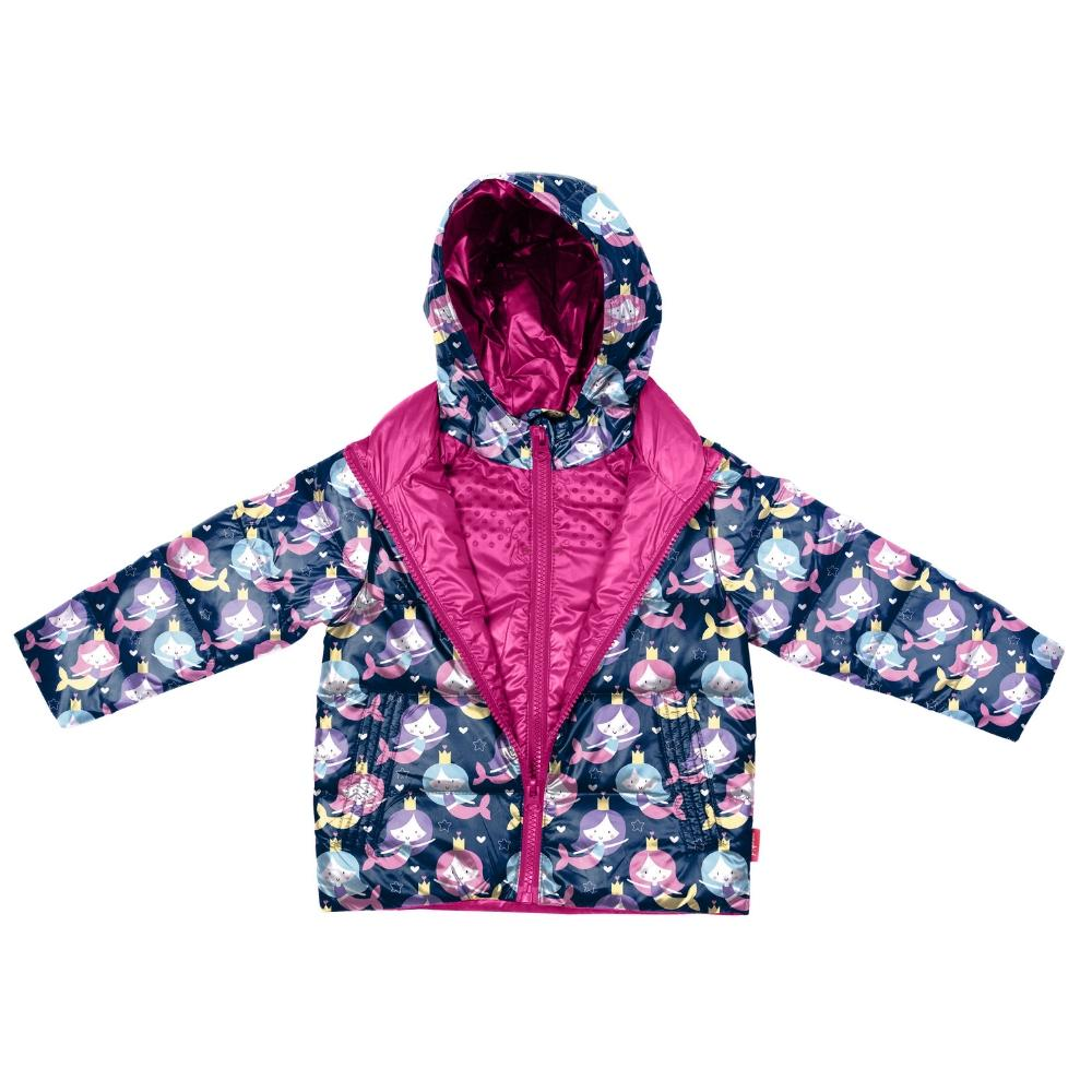 Car Seat Safety Road Coat®Down Jacket - Mermaid