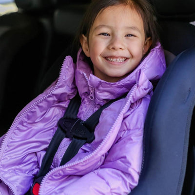 Car Seat Safety Road Coat®Down Jacket - Lilac